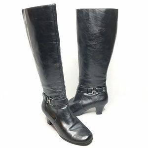 Aerosoles Pariwinkle Heeled Boots Black Expandable